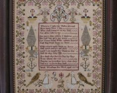 Sarah Woodham Cross Stitch Sampler Reproduction Graph by Shakespeare's Peddler
