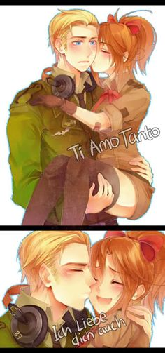 I love Fem!Italy and Germany! :D awwweee this is adorable ^^