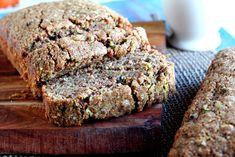 quinoa flour zucchini bread with coconut oil.