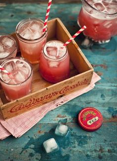 my favorite...mason jars and straws. such a delightful way to serve up something cool and refreshing.