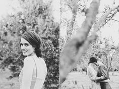 Beautiful, modern take on classic wedding portraiture.  I am a black and white purist.  Credit: Kate MacPherson