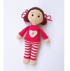 Crochet doll, amigurumi, crochet toys, crochet poupee by KnittingFairyFR on Etsy Мк Светлана Болотова