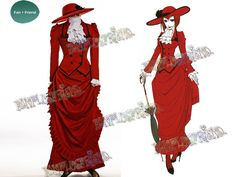Fanplusfriend Costume Store - Black Butler/Kuroshitsuji Cosplay Angelina Durless (Madam Red) Costume Victorian Tour Outfit, $180.00 (http://fan-store.net/black-butler-kuroshitsuji-cosplay-angelina-durless-madam-red-costume-victorian-tour-outfit/)