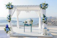 Ένας elegant chic γάμος στη Σαντορίνη