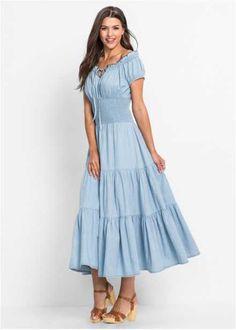 Летнее платье, John Baner JEANSWEAR, нежно-голубой
