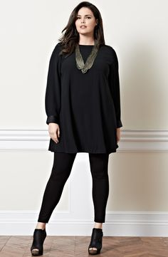 Eileen Fisher Silk A-line Dress (Plus Size) | Nordstrom