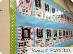 Rowdy in Room 300: number line