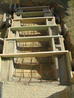 Trend Eine Treppe aus Stahlbeton Gartenbau selber gemacht