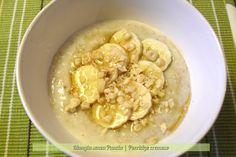 """Per una colazione molto """"british"""" ecco il porridge cremoso, ottimo per i primi freddi e per la dieta e molto nutriente e ovviamente in versione light!"""