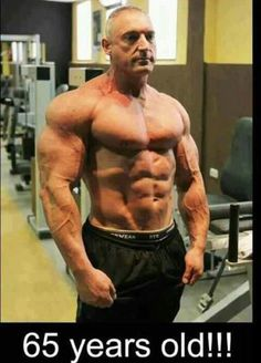 Never too late to be ripped and in the best shape of your life. This dude doesn't look anything like a 65 year old