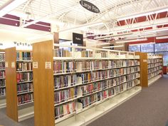 Newly organized Large-Print and Fiction area.