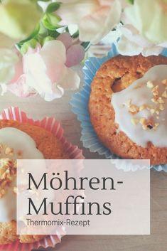 Rezept für Möhren-Muffins aus dem Thermomix #Rezept #Familienküche #backen #frühling #ostern #proviant