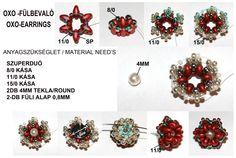 Beaded Bead PATTERN OXO earrings