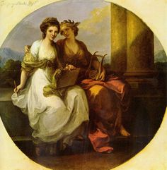 Angelica Kauffmann Allegory Of Poetry And Music 1792