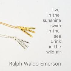 Ralph Waldo Emerson - 14kt Gold Vermeil