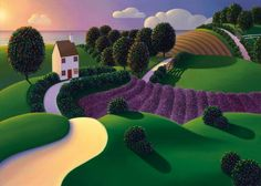 Lavender Sunset by Paul Corfield