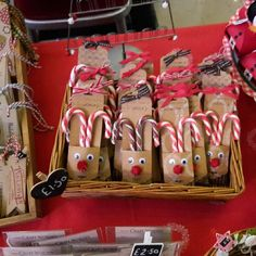 Rudolph Treat Pouches made with Stampin' Up! Scallop Topper Tag Punch - cute! My grandsons would enjoy these.