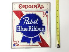 Pabst Blue Ribbon Beer Patch Large PBR 7 X 6