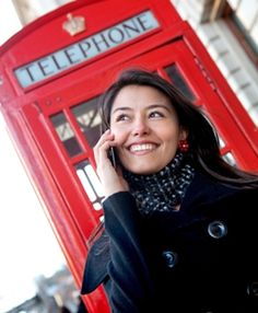 study abroad scholarships; female student in London