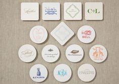 Classic monogram coasters