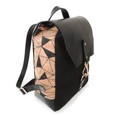 Cork & Leather Backpack in Geo Cork