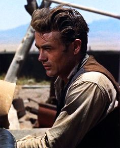 "James Dean in ""Giant"", 1955 Jimmy Dean, Old Hollywood Actors, James Dean Photos, Male Icon, Bad Picture, Steve Mcqueen, Elizabeth Taylor, American Idol, Movie Stars"