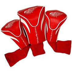 Team Golf Detroit Red Wings 3Pk Contour Sock Headcovers 13994