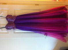 Ombre ball gown!! Prom dress