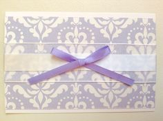 Purple card. Ribbon. Bow. Simple stories. Enchanted.