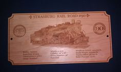 Available from MD trains NEw Locomotive Specification plaques in several road names including Strasburg and Nickle Plate contact MD trains TOday Train Decorations, Boiler, Locomotive, Engineer, Trains, Plate, Names, Dishes, Plates