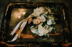 Image by Modern Vintage Weddings blush bouquet