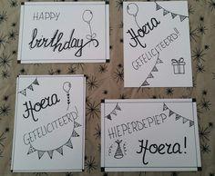 Verjaardagskaarten handlettering