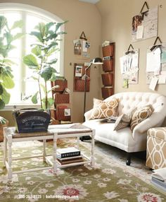 Really nice hanging pinboards, and another cool settee/couch thing.
