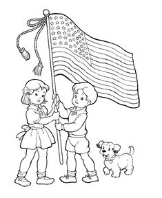 Coloring Pages Flags Holidays and Social studies