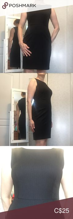 Mexx sleeveless dress This dress has a very flattering, sleeveless and formfitting look. Classic black with white pinstripes. Back zipper. Plus Fashion, Fashion Tips, Fashion Trends, Zipper, Formal Dresses, Mini, Classic, Closet, Outfits
