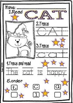 HALLOWEEN FREE WORD WORK MINI-SET FOR LITTLE KIDS - TeachersPayTeachers.com