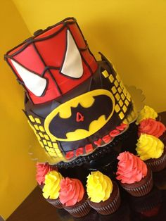 O.M.G. J wants a Batman and Spidey birthday party!  How perfect is this!