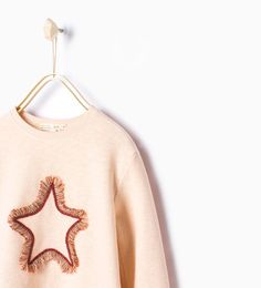 Image 1 of Embroidered appliqué sweatshirt from Zara