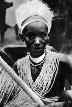 Africa | Brother of the King of Urundi. || Scanned old postcard;  Mission of the White Fathers