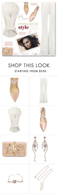 """""""Etymology of Style"""" by fassionista ❤ liked on Polyvore featuring Jimmy Choo, Alexis, Thom Browne, Dolce&Gabbana, Pascale Monvoisin, top and statement"""