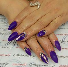 #nails #nailart #acrylicnails #purplenails #swarovskicrystals #beautymakesyouhappy