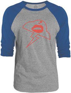 Big Texas Storm Kiss (Red) 3/4-Sleeve Raglan Baseball T-Shirt