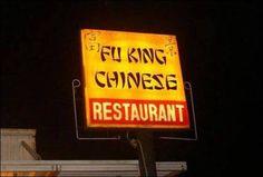 Fu King Chinese Restaurant.