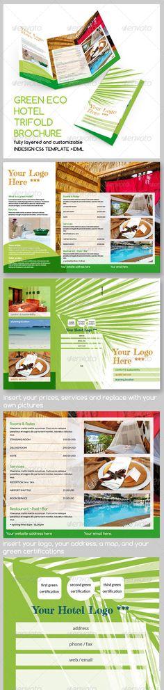 Green Eco Hotel Trifold Brochure