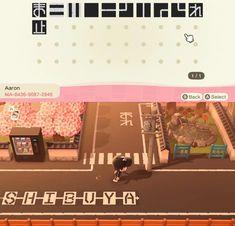 Heres the road designs for my town Shibuya : ACQR island designs japan Animal Crossing Guide, Animal Crossing Qr Codes Clothes, Japanese Animals, Motif Acnl, Path Design, Design Ideas, Motifs Animal, Animal Games, Island Design