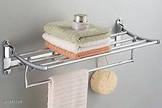 Bath Shelves Folding Cloth Rack  Round Pipe  Material : Stainless Steel Size : 24 in Description :It Has 1 Piece Of Folding Cloth Rack  Round Pipe Country of Origin: India Sizes Available: Free Size   Catalog Rating: ★4.4 (551)  Catalog Name: Miluxe Home & Kitchen Utilities Vol 12 CatalogID_242111 C132-SC1589 Code: 919-1841154-6882