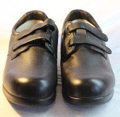 Drew Shoes Mens Black MIDWAY Double Added Depth sz 10.5 Narrow Orthotic Diabetic #Drew #Walking