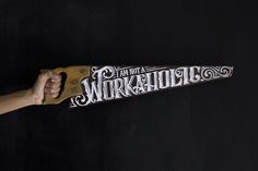 Hand lettered saw on Behance