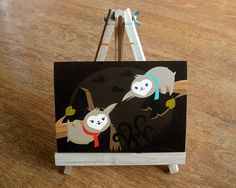 Cute Sloth in Love Print by roseycheekes on Etsy, $12.00