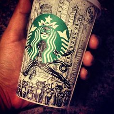 Doodled Starbucks Cup